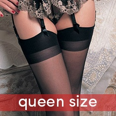 1001Q everyday sheer 100% nylon stockings - QUEEN SIZE