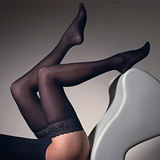 1015 Velvet 50 denier opaque thigh highs