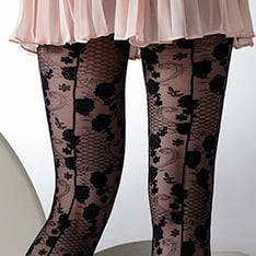 1375 Vintage Seamed lace pantyhose - SAVE 40%!