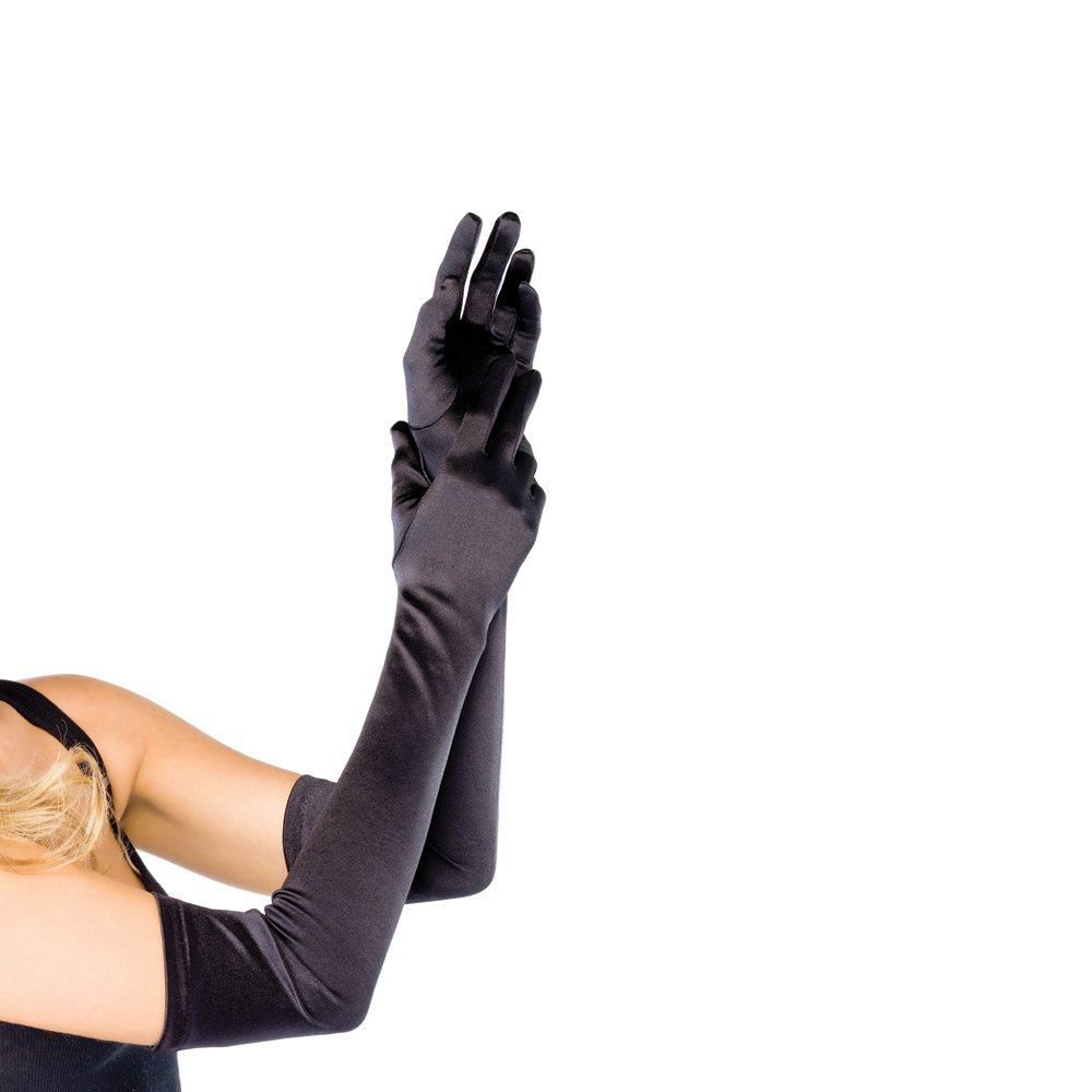 Leg Avenue Avenue 16B extra long stretch satin gloves