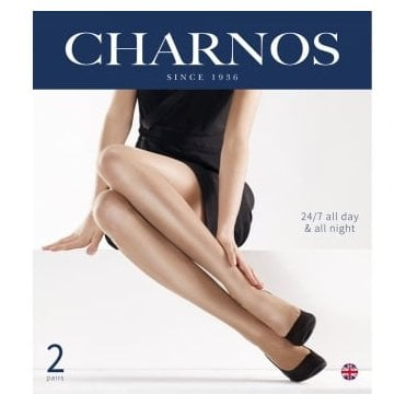 Charnos 24/7 gloss pantyhose - 2 pair pack