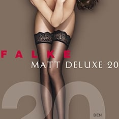41520 Matt Deluxe 20 denier transparent matt thigh highs