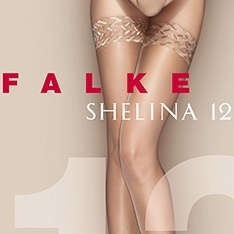 41526 Shelina ultra-transparent slight shimmer thigh highs