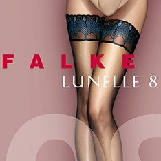 41534 Lunelle 8 Peacock ultra-sheer thigh highs