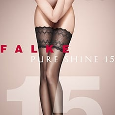 41545 Pure Shine 15 denier transparent shining thigh highs