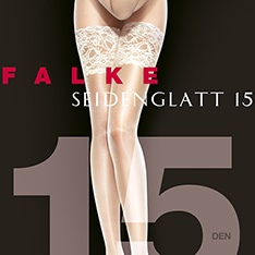 41584 Seidenglatt 15 deep French lace thigh highs