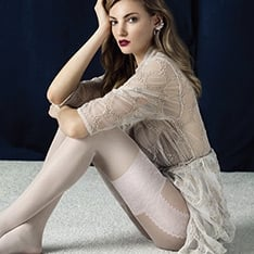 Angel faux garter pantyhose