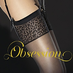 Antera leopard top stockings