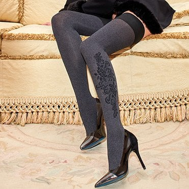 Artemide melange opaque thigh highs