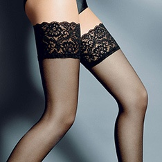 Beautiful lace top thigh highs