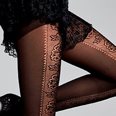Belle patterned opaque pantyhose