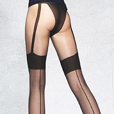 Beverly faux seamed stocking pantyhose - SAVE 30%!