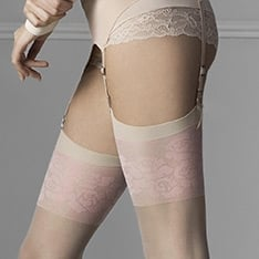 Blush pink flower stockings