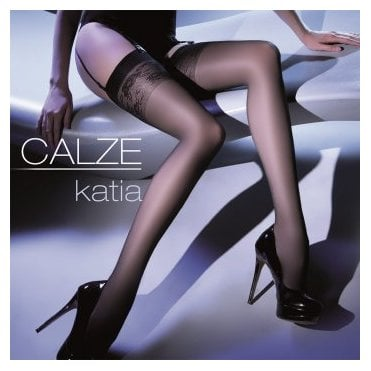Gabriella Calze Katia floral top sheer stockings