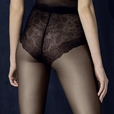 Charm floral brief pantyhose