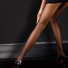 Classic backseam sheer pantyhose