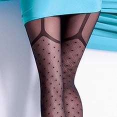 Collette 40 model 1 faux garter pantyhose