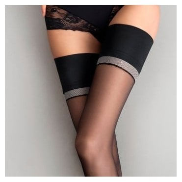 Fiore Divine contrast band thigh highs