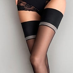 Divine contrast band thigh highs