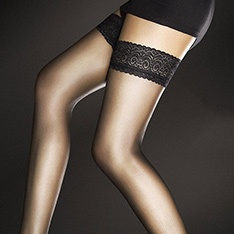 Edith 8 denier ultra-sheer thigh highs