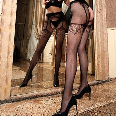 Efesto strip panty open fishnet pantyhose
