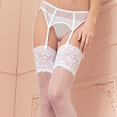 Eleonora lace top stockings