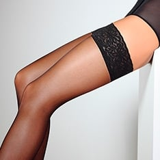Emotion 20 lace top thigh highs