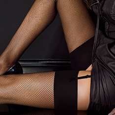 fishnet stockings with plain top