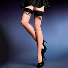Gala smooth top 20 denier thigh highs