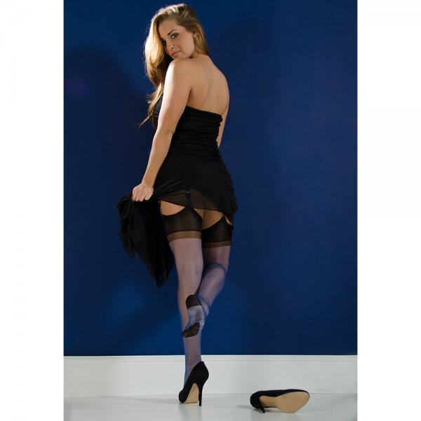 9b751c2ab11 Gio SECONDS - contrast RHT stockings at Pantyhose HQ