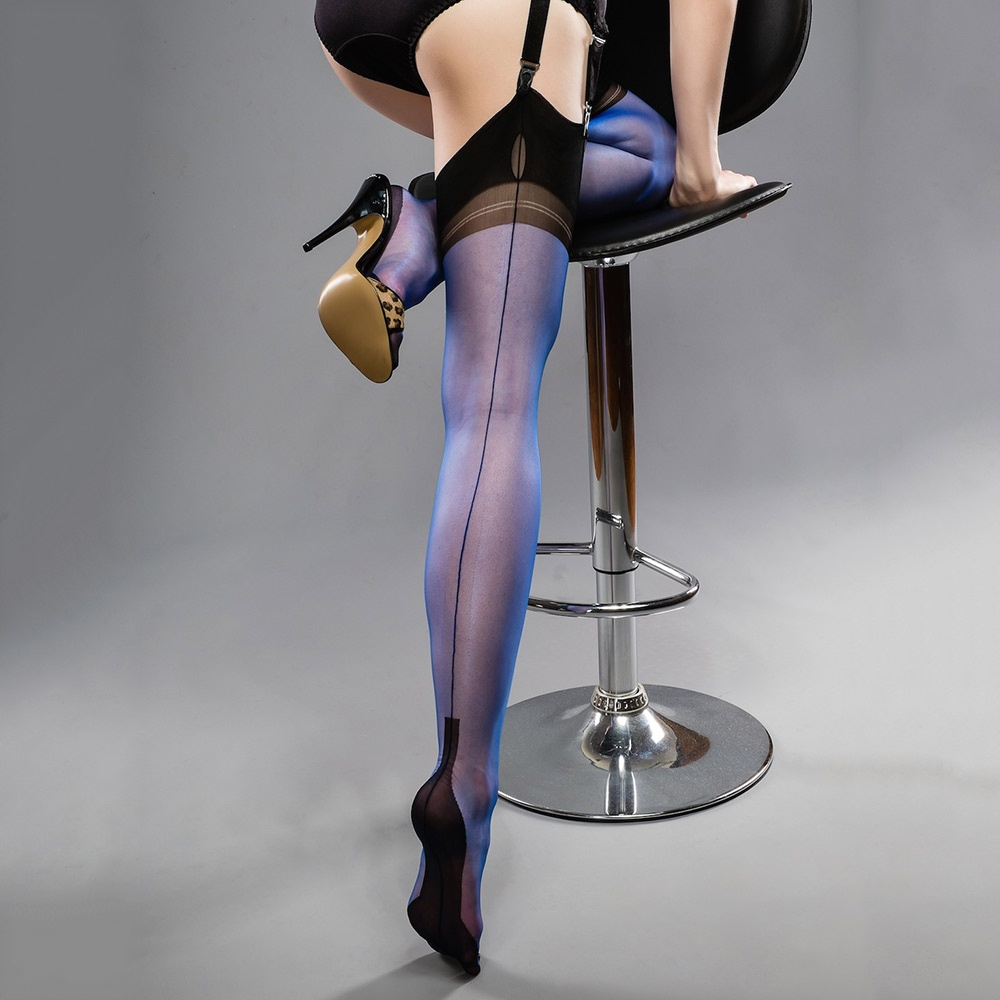 9f47688692a Gio SECONDS - FULL CONTRAST - cuban heel fully fashioned stockings ...