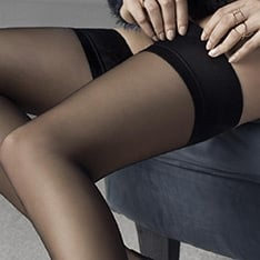 Glam plain top thigh highs