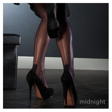 Eleganti Havana heel FF stockings - CONTRAST SEAM - SECONDS