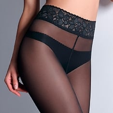 Impresso 40 Luxury Line lace waistband semi-opaque pantyhose