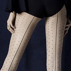 Intrigue seamed spot pantyhose