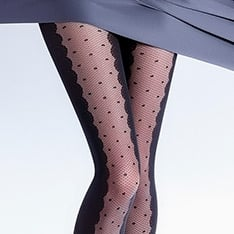 Ivette model 5 spot opaque fashion pantyhose