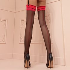Jessy contrast seam stockings