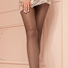 Katia 15 denier double-covered sheer pantyhose