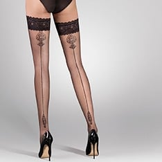 Lana ornate backseam thigh highs