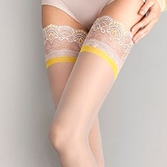 Lemonade yellow band thigh highs