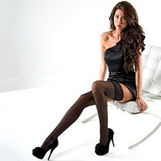 Linea Classica matt 30 semi-opaque thigh highs