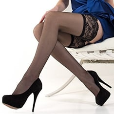 Linea Lusso Autoreggente Enigma lace top thigh highs