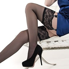 Linea Lusso Enigma lace top stockings