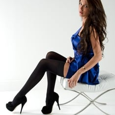 Linea Lusso microfibre 55 thigh highs - classic colors