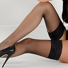Linea Sensuale net thigh highs