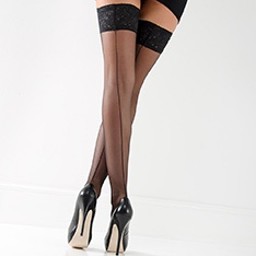 Linea Sensuale seamed thigh highs