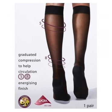 Charnos medium energising support knee highs with massage sole