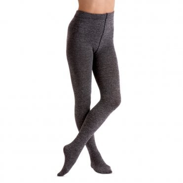 COUTURE GLITTER OPAQUE TIGHTS IN BLACK MEDIUM OR LARGE