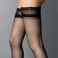Mercedes ultra-sheer 6 denier thigh highs