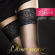 Milena 20 denier sheer lace top thigh highs